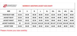 QASTAN Women's Western Leather Fringe Motorcycle / Biker JacketWWJ13 image 3