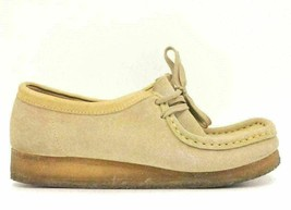 Clarks Originals Wallabee Women Chukka Casual Shoes Size US 8M Tan Suede - $42.14