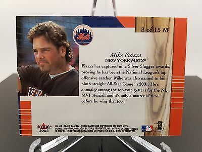 Mike Piazza 2002 Fleer Materialistic Jersey Edition 3 of 15 M image 2