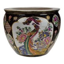 Vintage Asian Phoenix and Koi Fish Planter Jardiniere - $395.00