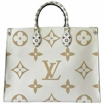 Louis Vuitton ONTHEGO TOTE White Beige Green Giant Monogram - $3,559.05