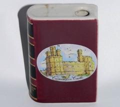 Vtg British Airways Drambuie miniature flask book Castles of Britain liq... - $29.69