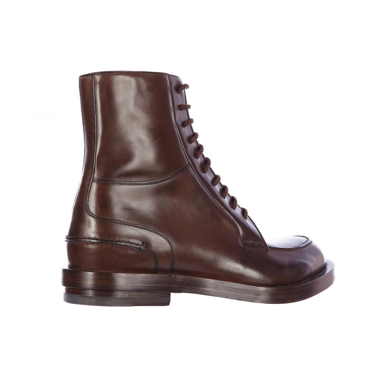 handmade men dark brown lace up ankle boot mens boot men