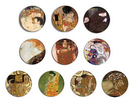 GUSTAV KLIMT fine art paintings pin pinback button BADGE Magnet KEYCHAIN... - $5.50+
