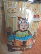 NWT INFANT SZ 6 12 MONTHS INCHARACTER COSTUME OWL SZ SMALL CUTE HALLOWEE... - $37.15