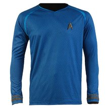 Star Trek Into Darkness Spock Shirt Uniform Cosplay Costume Blue Version - $42.99+