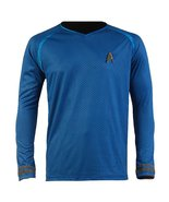 Star Trek Into Darkness Spock Shirt Uniform Cosplay Costume Blue Version - $42.99+