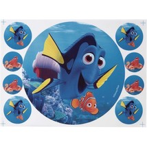 Wilton Finding Dory Peel & Place Sugar Sheets Cupcake Cake Toppers Disne... - $5.69