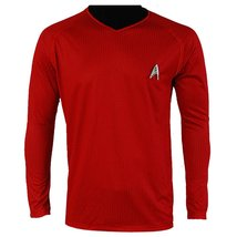 Star Trek Into Darkness Scotty Shirt Uniform Costume Red Version Cosplay Costume - $49.99
