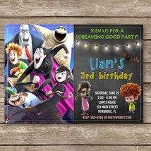 Hotel Transylvania Birthday Digital Invitation, Halloween - $8.00