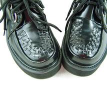 2 Inch Platform Ankle High Round Toe Black PU Flatform Lolita Shoes image 2