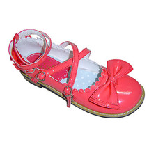 Low Heel Ankle High Round Toe Bow Watermelon Red PU Lolita Sandals Shoes - $43.74