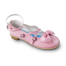 Low Heel Round Toe Ankle High Bow Pink Lolita Sandals Shoes - $43.74