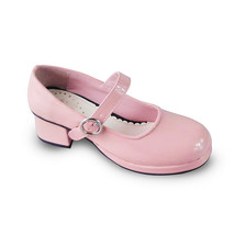 1.8 Inch Heel Round Toe Ankle High Pink PU Lolita Shoes - $43.74