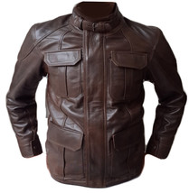 Brown Mens leather Bomber Jacket , Slimfit Fitting Real Leather - $189.97+