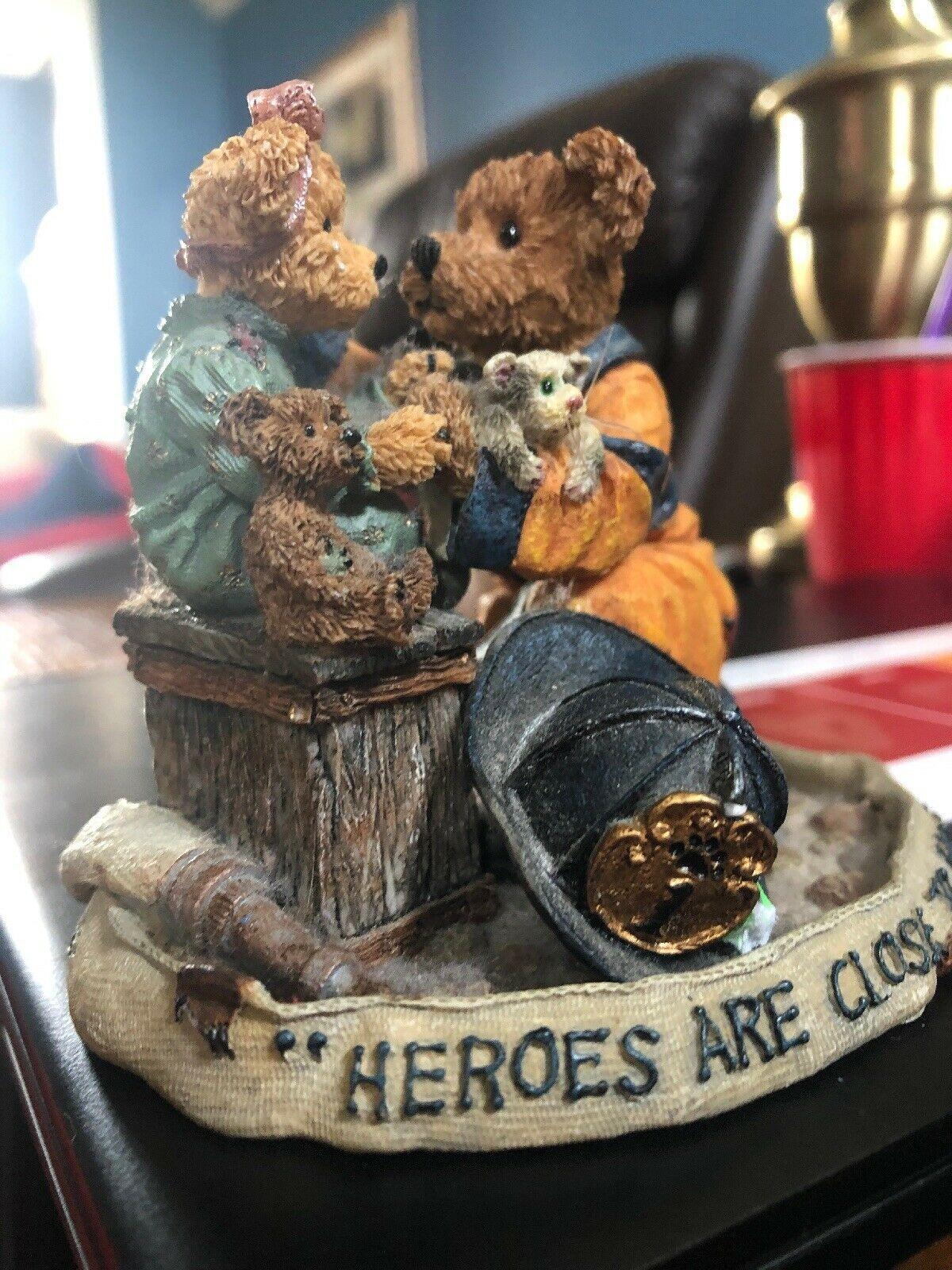 """""""Chief Buckley w/Jennifer...To the Rescue"""" Boyds Bears Bearstone Figurine"""