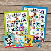 Mickey Mouse Bingo, Party Game, Mickey Clubhouse Bingo, Minnie Daisy Goo... - $6.00