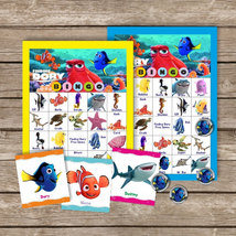 Finding Dory Digital Bingo, Party Game Printable - $6.00