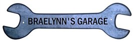 Personalized Metal Wrench Sign - Braelynn's Gar... - $16.99