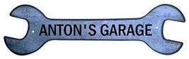 Personalized Metal Wrench Sign - Anton's Garage... - $16.99