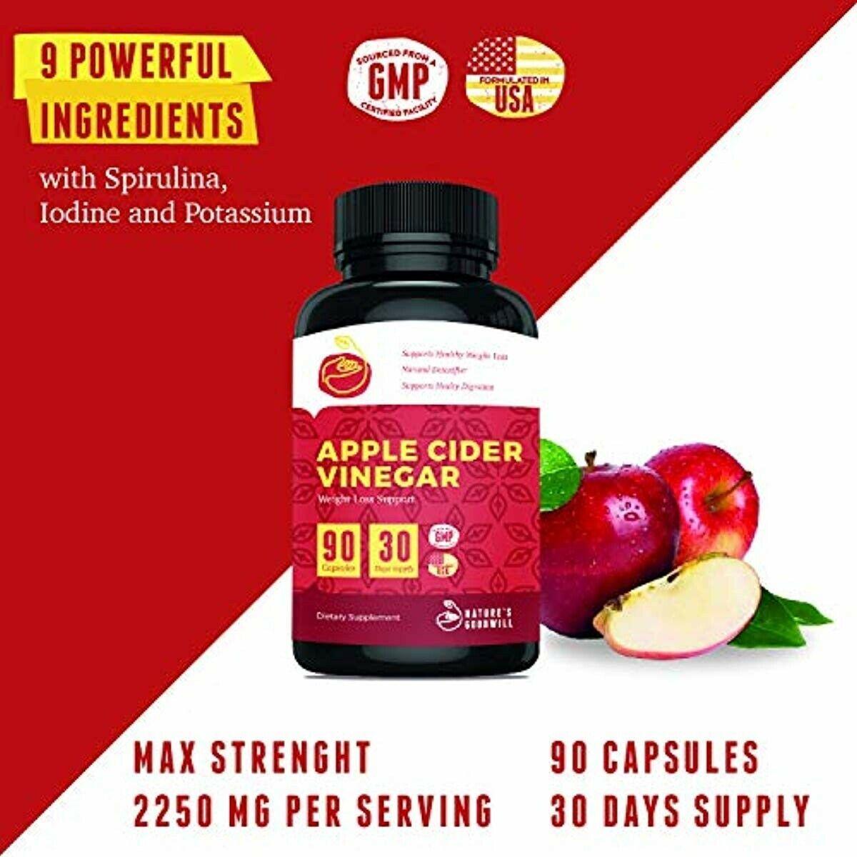 Apple Cider Vinegar Pills For Weight Loss All Natural