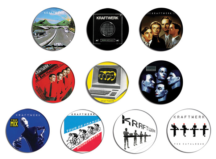KRAFTWERK computer world, man machine pin pinback button BADGE Magnet KEYCHAIN