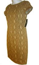 Lauren Ralph Lauren Snake Print Dress sz XS tan knit NEW $145 - $30.00