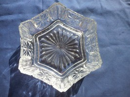 Vintage AVON Fostoria Glass Six SIded Candy Nut Dish - $7.99
