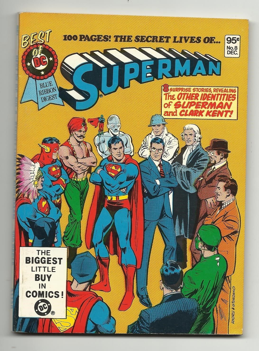 Best of DC Blue Ribbon Digest #8 - Superman Green Arrow Atom Flash Aquaman 9.0 - $10.55