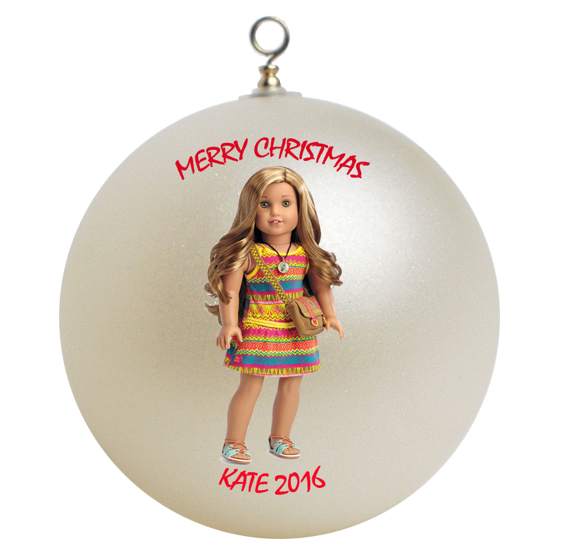 Personalized American Girl Lea Christmas Ornament Gift