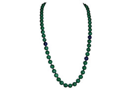 Kenneth Lane Faux-Jade & Lapis Necklace - $252.00