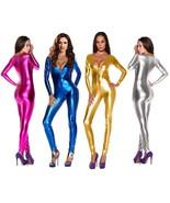 4 COLOR SHINY METALLIC BODY SUIT CATSUIT COSTUMES HALLOWEEN COSPLAY SUIT... - $32.99