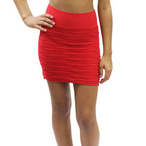 New Sexy Seamless Stretch Pull Up Fitted Ruched Skirt One Size 10 Colors... - $5.99