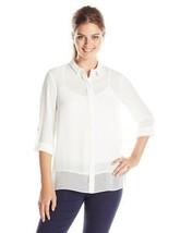T TAHARI Women's Brand New Andi Solid White Lon... - $59.00