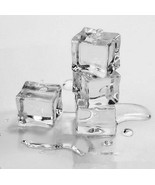 20pcs Wedding Party Display Artificial Acrylic Ice Cubes Crystal Clear Decorate - £5.33 GBP