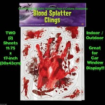 Outdoor LIFE SIZE BLOODY HAND PRINTS SPLATTER CAR DECAL CLING Window Doo... - $11.85