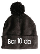 BARTENDER Bar10da, Pom Pom on top Fine Finished Embroidery Beanie - $16.99