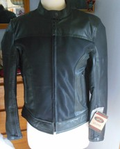 River Road Women's Pecos Leather Mesh Motorcycle Jacket Size M - $173.25