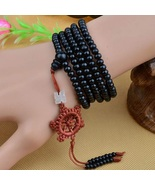216 Sandalwood Buddhist Buddha Prayer Bead Mala Necklace Bracelet - $5.00