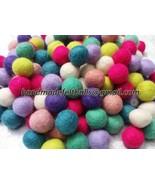 Handmade wool Felt Balls Size: 2 cm (100 pc) 10... - $13.98