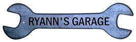 Personalized Metal Wrench Sign - Ryann's Garage... - $16.99