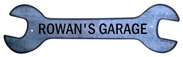 Personalized Metal Wrench Sign - Rowan's Garage... - $16.99