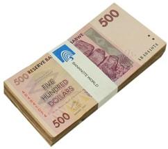 Zimbabwe 500 Dollars X 100 Pieces, 2007, P-70, USED, Bundle, 100 Trillio... - $99.99