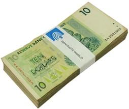 Zimbabwe 10 Dollars X 100 PCS, 2007, P-67, USED,Bundle,100 Trillion Series - $34.99