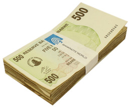 Zimbabwe 500 Dollars X100 Pieces (PCS), 2006, P-43, USED, Bundle, Pack - $69.99