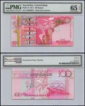 Seychelles 100 Rupees, 2011, P-43, UNC, Sea Tortoise, PMG 65 EPQ - $29.99