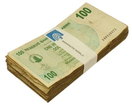 Zimbabwe 100 Dollars X 50 Pieces (PCS), 2006, P-42, USED, Half Bundle, Pack - $29.99