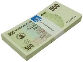 Zimbabwe 500 Dollars Bearer Cheque X 100 Pieces (PCS), 2006,P-43,UNC,Bun... - $69.99
