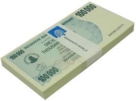 Zimbabwe 100,000 (100000) Dollars X 100 Pieces (PCS), 2006, P-48,UNC,Bun... - $399.99
