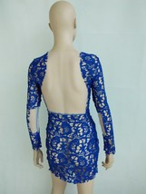 Sexy Women Bandage Bodycon Lace Long Sleeve Cocktail Evening Party Mini ... - £11.65 GBP